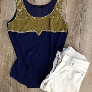 Gorgeous blouse tank with bead detail - Small